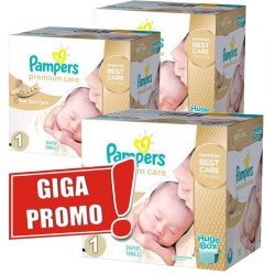 Pampers - 1012 Couches Premium Care taille 1 sur Les Couches