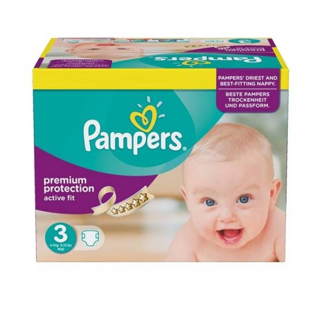 Pampers - 123 Couches Active Fit taille 3 sur Les Couches