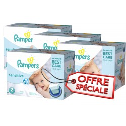 Pampers - 540 Couches New Baby Sensitive taille 2 sur Les Couches