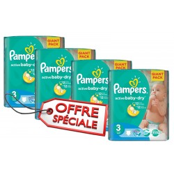 Pampers - 660 Couches Active Baby Dry taille 3