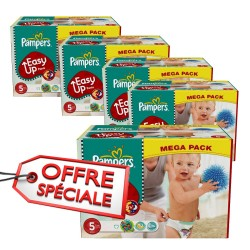 Pampers - 731 Couches Easy Up taille 5 sur Les Couches