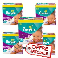 Pampers - 870 Couches Active Fit taille 5+ sur Les Couches