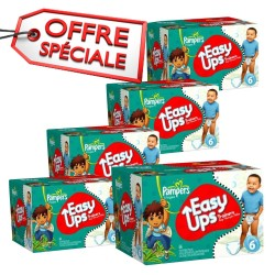 Pampers - 570 Couches Easy Up taille 6 sur Les Couches