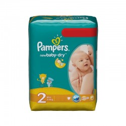 Pampers - 68 Couches New Baby Dry taille 2 sur Les Couches