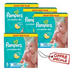 Pampers - 814 Couches Active Baby Dry taille 3