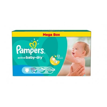 456 couches pampers active baby dry taille 4 en solde sur les couches - Couche pampers baby dry taille 4 ...
