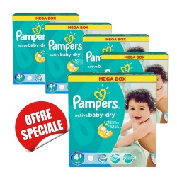 Pampers - 742 Couches Active Baby Dry taille 4+ sur Les Couches