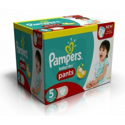 Pampers - 210 Couches Baby Dry Pants taille 5 sur Les Couches