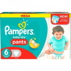 Pampers - 190 Couches Baby Dry Pants taille 6