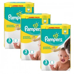 Pampers - 198 Couches Premium Protection 3 sur Les Couches