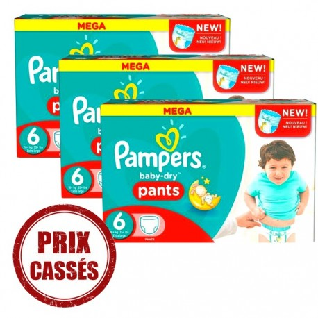 Pampers - 105 Couches Baby Dry Pants 6 sur Les Couches