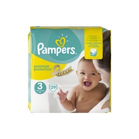 Pampers - 29 Couches Premium Protection 3 sur Les Couches
