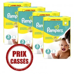 Pampers - 232 Couches Premium Protection 3 sur Les Couches
