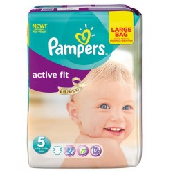 Pampers - 23 Couches Active Fit taille 5 sur Les Couches
