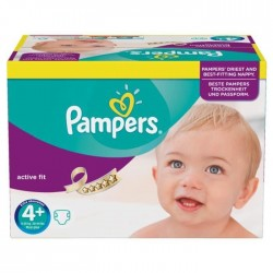 Pampers - 21 Couches Active Fit taille 4+ sur Les Couches