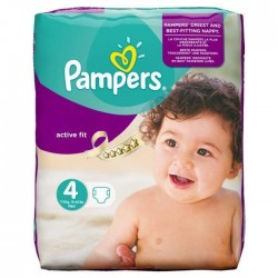 Pampers - 270 Couches Active Fit taille 4 sur Les Couches