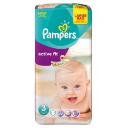 Pampers - 62 Couches Active Fit taille 3
