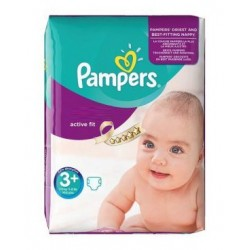 Pampers - 70 Couches Active Fit taille 3+
