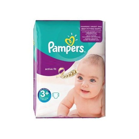 Pampers - 70 Couches Active Fit taille 3+ sur Les Couches