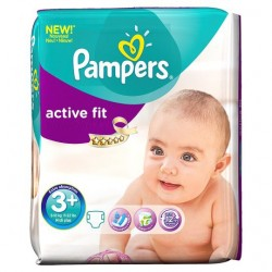 Pampers - 80 Couches Active Fit taille 3+ sur Les Couches
