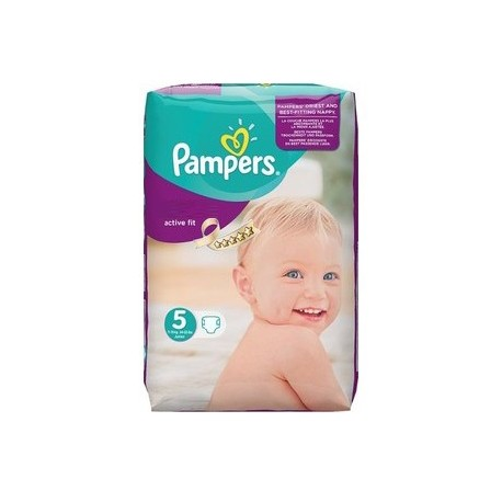 Pampers - 92 Couches Active Fit taille 5 sur Les Couches