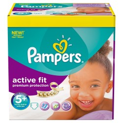 Pampers - 58 Couches Active Fit taille 5+ sur Les Couches
