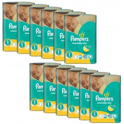 Pampers -  Giga Pack 860 Couches New Baby Dry taille 1