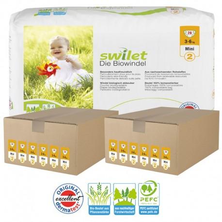 336 Couches Bio écologiques Swilet Taille 2 En Promotion Sur Les Couches