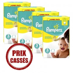 Pampers - Giga pack 200 Couches Premium Protection taille 3