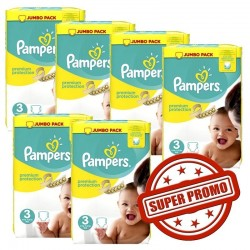 Pampers - Giga pack 400 Couches Premium Protection taille 3