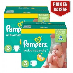 Pampers - Maxi Pack 410 Couches Active Baby Dry taille 3 sur Les Couches