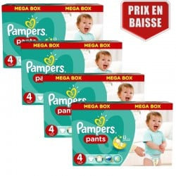 Pampers - Giga Pack 470 Couches Baby Dry Pants taille 4