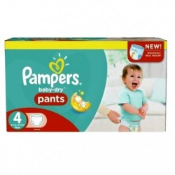 Pampers - Pack 94 Couches Baby Dry Pants taille 4 sur Les Couches