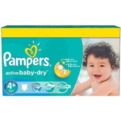 Pampers - Pack 112 Couches Active Baby Dry taille 4+ sur Les Couches