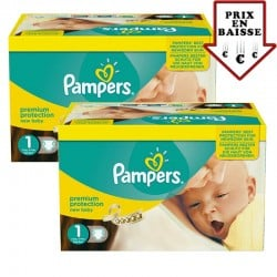 Pampers - Giga pack 345 Couches New Baby taille 1