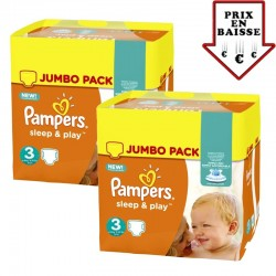 Pampers - giga pack 448 Couches Sleep & Play taille 3 sur Les Couches