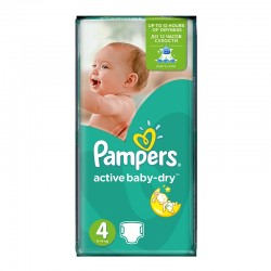 Pampers - Pack 49 Couches Active Baby Dry taille 4 sur Les Couches