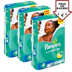Pampers - giga pack 588 Couches Active Baby Dry taille 4 sur Les Couches