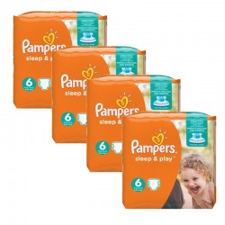 Pampers - Maxi Giga pack 174 Couches Sleep & Play taille 6 sur Les Couches
