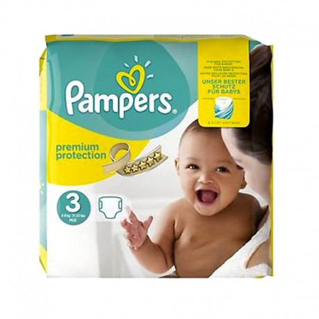 Pampers - Pack 80 Couches Premium Protection - New Baby taille 3 sur Les Couches
