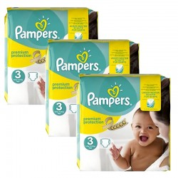 Pampers - Maxi Giga Pack 240 Couches Premium Protection - New Baby taille 3 sur Les Couches