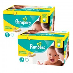 Pampers - Maxi Giga Pack 400 Couches Premium Protection - New Baby taille 3
