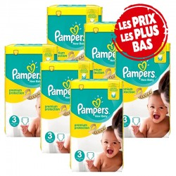 Pampers - Maxi Mega Pack 348 Couches Premium Protection taille 3 sur Les Couches