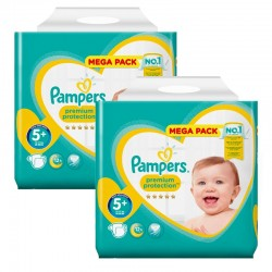 Pampers - Giga Pack 256 Couches Premium Protection - New Baby taille 5+ sur Les Couches