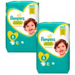 Pampers - Mega Pack 240 Couches Premium Protection - New Baby taille 6 sur Les Couches