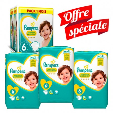 Pampers - Giga Pack 217 Couches Premium Protection - New Baby taille 6 sur Les Couches