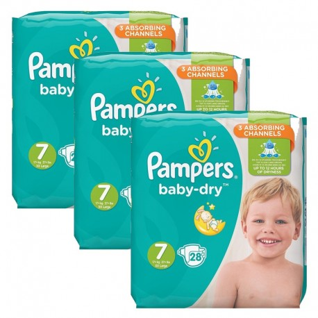 Pampers - Mega Pack 84 Couches Baby Dry taille 7 sur Les Couches
