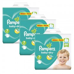 Pampers - Maxi Giga Pack 140 Couches Baby Dry taille 7 sur Les Couches