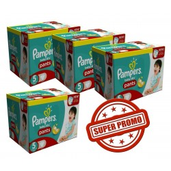 Pampers - Giga Pack Jumeaux 252 Couches Baby Dry Pants taille 5 sur Les Couches