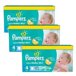 Pampers - Mega Pack 360 Couches Active Baby Dry taille 4+